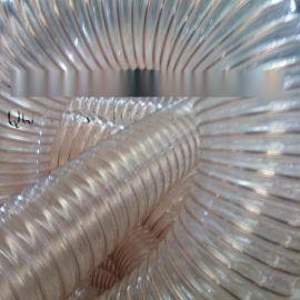 山东pu钢丝风管|耐磨耐老化pu风管|镀铜透明钢丝伸缩风管