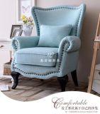美若婳家具s43美式乡村布艺老虎椅书房客厅休闲高背沙发椅卧室小户型休闲沙发