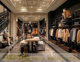 厂家长期供应,品牌**店陈列服装展示柜,男女服装店设计装修定制