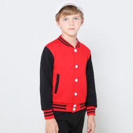 儿童棒球服小学生开衫长袖加绒卫衣幼儿园服小朋友外套定制园标