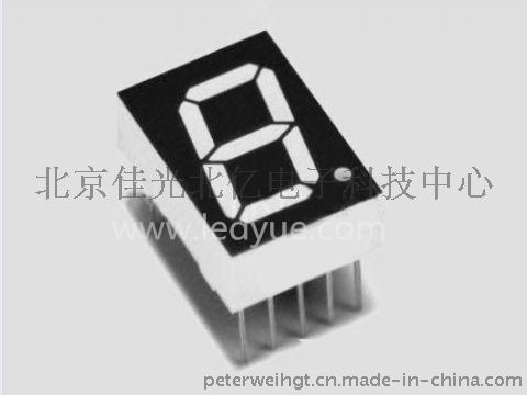 0.52英寸单一1位led数码管橙色光北京天津河北仪器仪表面板数字显示,电子时钟厂家SMA5212A/B