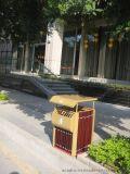 供应高档 实木户外垃圾桶 酒店垃圾桶 单桶