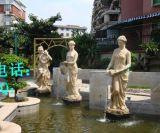 广州房地产小区欧式砂岩水景天使雕塑摆设定做厂家