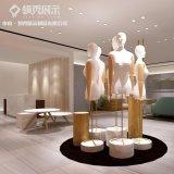 服装展示道具厂家 定制不锈钢镀金服装展示架