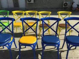 美式餐椅復古主題餐廳凳子歐式創意鐵藝酒店椅