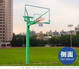 地埋方管钢化玻璃SMC篮球架