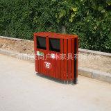 进口木垃圾桶 钢木垃圾桶