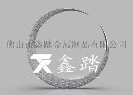 地产园林304不锈钢编织月亮雕塑可来图来样定制