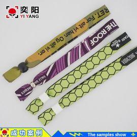 **织唛手腕绳手腕带 热转印手腕绳 来图定制wristband 免费设计