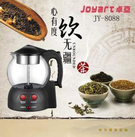 直销卓亚JY-8088煮茶器玻璃保温电水壶电茶壶煮黑茶蒸汽泡玻璃茶