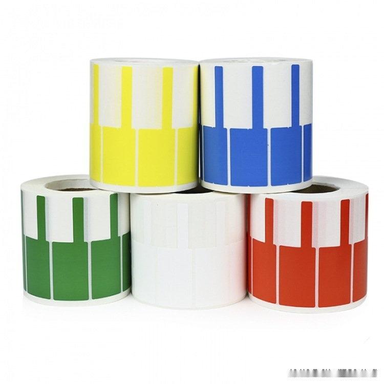 订购不干胶标签 卷状P型不干胶 彩色线缆不干胶标签