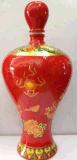 花釉/窯變陶瓷酒瓶批發加工新款造型陶瓷酒瓶定製