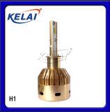 鋁件+風扇+無級驅動 KELAI LED H1/H3/H4/H7 60W 6000K 金色前大燈批發