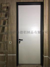 极简细框安全玻璃门铝合金钢化玻璃门