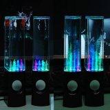 跨境创意智能喷泉方形LED七彩电脑音响水舞音箱蓝牙