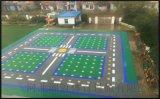 石嘴山市氣墊懸浮地板籃球場塑膠地板拼裝地板