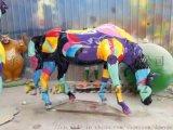 马到成功主题玻璃钢彩绘飞马雕塑造型点缀城市园林