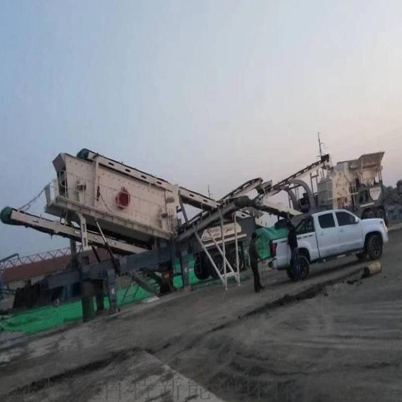 轮胎式建筑垃圾处理设备,玄武岩破碎机生产线配置