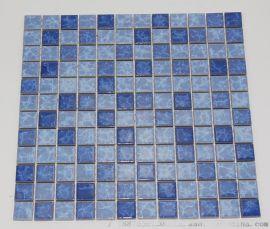 陶瓷窑变闪电纹马赛克泳池砖