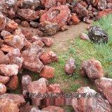 本格纯直销红色火山石颗粒 土 园艺植料火山岩