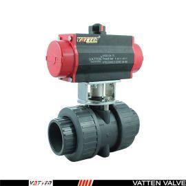 德国VATTENQ41F-16P 气动PVC球阀中德合资上海工厂 气动UPVC球阀