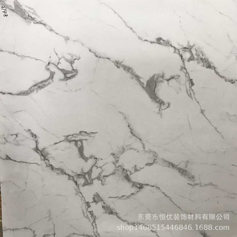 廠家定做爵士白大理石紙底部無膠表面可以噴漆