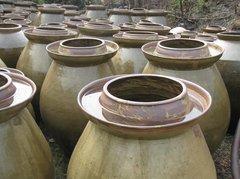 陶器**绿釉陶器泡菜坛