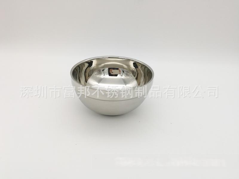 厂价直销纯正304不锈钢双层隔热碗,砂光碗