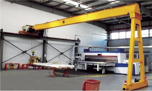 半龙门起重机山东厂家直销行车MBH半门式起重机吊机