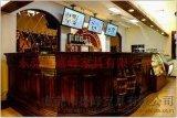 厂家供应酒吧酒店碳化木吧台 欧式防腐碳化木吧台