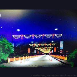 甘肃武威led中国结街灯 led圣诞过街灯 定做led过街灯路灯装饰