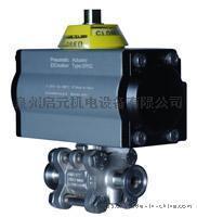 进口卫生级达标气动球阀丨160系列三片式卫生气动球阀