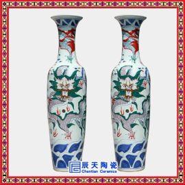 景德鎮禮品大花瓶 手繪青花裝飾大花瓶