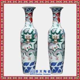 景德镇礼品大花瓶 手绘青花装饰大花瓶