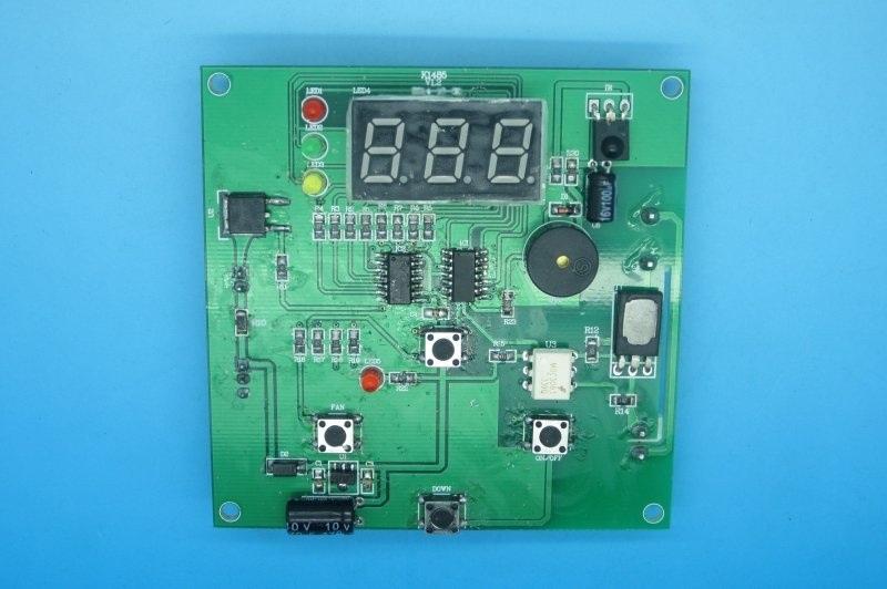 智慧帶定時LCD顯示器風扇調速理療燻蒸控制板PCB電路板開發設計