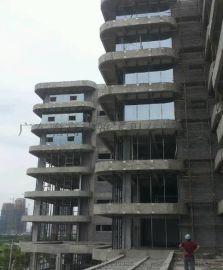 深圳外牆玻璃拆除、幕牆玻璃拆裝 更換外牆破損鋼化玻璃