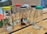 开发定制酸奶瓶,出口玻璃酸奶瓶,烤花酸奶瓶