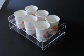咖啡店饮料杯展示架,饮料创意杯架,亚克力杯子展架