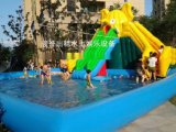 上海苏州出租水上滑梯/大型移动水上冲关乐园出租/充气水池出租