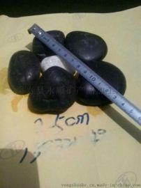 山西太原黑色鹅卵石批发,3-5厘米黑色铺路鹅卵石生产厂家