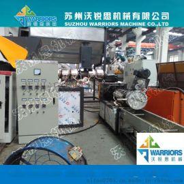 供应PE标签纸、PE/PP薄膜团粒双节造粒生产线设备