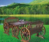 双人车轮桌椅