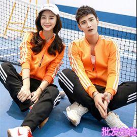 韓版秋冬學生男女加厚絨棒球服運動大碼情侶裝衛衣褲團體班服外套