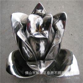 海南雕塑厂家  室内外不锈钢小型雕塑  镜面不锈钢小石头摆件