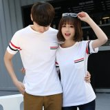 夏季短袖男女圆领T恤大码宽松情侣装韩版学生团队服班服工衣定制