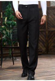 春夏餐飲酒店服裝 領班男式西褲服務員百搭黑色工作長褲西裝褲子
