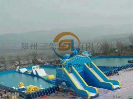 内蒙古鄂尔多斯水上游艺设施大型支架水池
