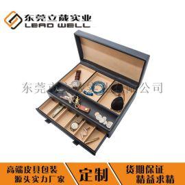 PU皮质交房钥匙箱礼品盒包装盒定制Logo