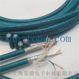高柔性拖鏈工業乙太網線_機器人手臂乙太網電纜