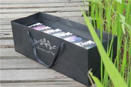 **炮玫瑰鲜花永生花礼盒礼品袋 进口卡纸手提袋 节日送礼包装袋
